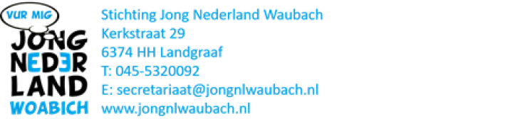 UItslag  Jong Nederland WauBACH JubIleumloterij  T.G.V. 75-jarIg JubIleum